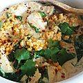 Cocotte cabillaud-lentilles corail au curry