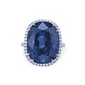 A diamond ring, by van cleef & arpels and a sapphire and diamond ring