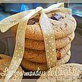 Cookies au beurre de cacahuète et carrés de chocolat d'emerky