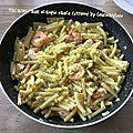 Macaronis aux scampis et sauce citronnée (490 calories par personne ou 11 pp)
