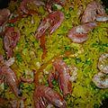 Paella facile aux crevettes