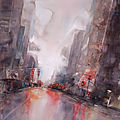 Lumières de la ville, aquarelle de new york