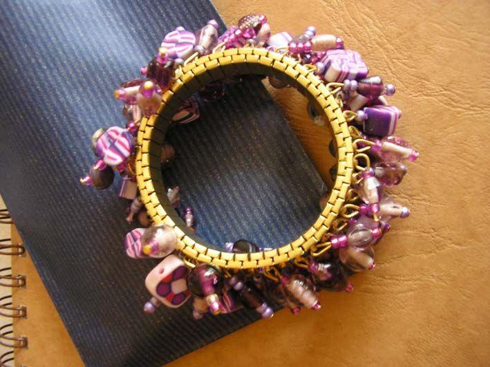 bracelet fimo rose