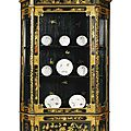An Italian chinoiserie lacquered and parcel-gilt vitrine cabinet by <b>Luigi</b> <b>Zampini</b> and dated 1861, Florentine