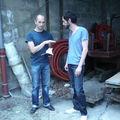 Patrick et Jean-Philippe: répétition pour le happening