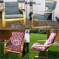 Relooking fauteuil poang (du célèbre fabricant suédois)...
