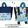 Un sac à dos maternelle personnalisé et un tapis à langer nomade, check !