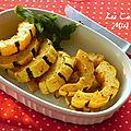 Frites de courge <b>délicata</b>, sans gluten et sans lactose