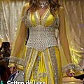 <b>Caftan</b> marocain jaune aristocrate