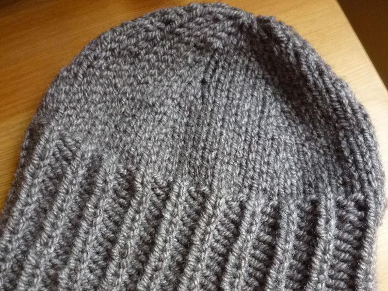 tricoter un bonnet homme jersey