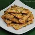 Crackers pistache d'après les frères pourcel