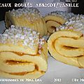 Gâteaux roulés abricot/vanille