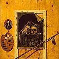 Sebastiaen Bonnecroy, Still Life with a Skull, 1668