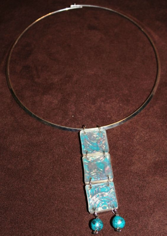 parure (41-1) tricarré bleu