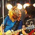 Girlschool-Kelly Johnson & Kim McAuliffe 1980 Festival Bilzen