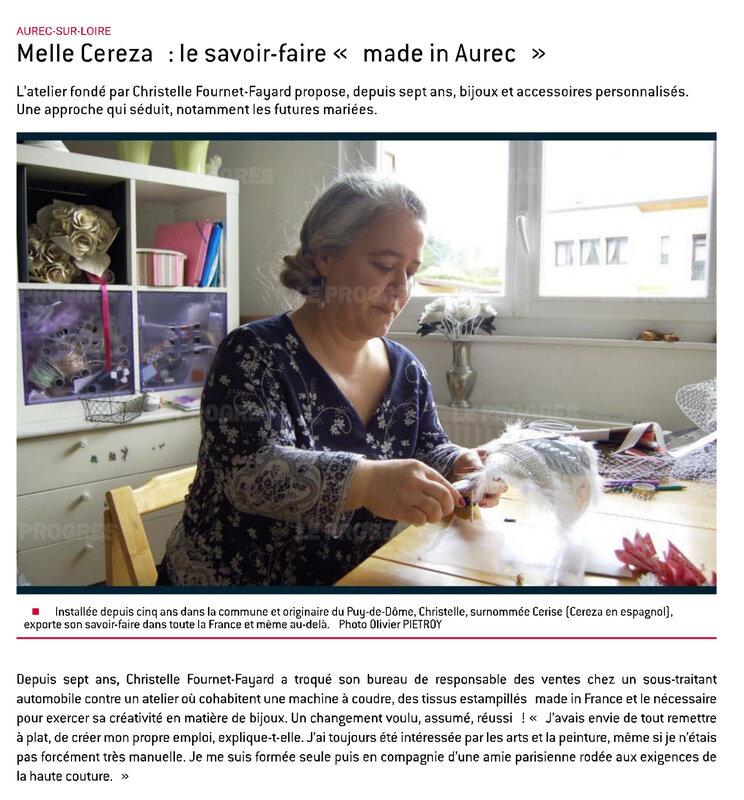 Aurec-sur-Loire Melle Cerezasavoir-faire artisanal loire haute loire