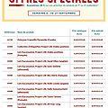 Offres spéciales - semaine 3 du 15 au 21 Septembre 2016