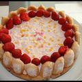 C'est dimanche .... charlotte aux fraises, lait de coco & mascarpone