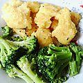 Polenta et brocolis sauté