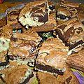 Brownies à la noix de coco, chocolat blanc et noir