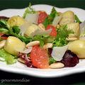 Salade d'artichauts au pamplemousse rose d'après jamie oliver