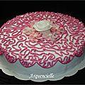 Gâteau dentelle cornely fleurs Wilton poche à douille Doodling