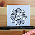 DEFI DESSIN #3 : Tester le zentangle en 5 jours