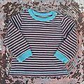 Tee-shirt rayé, 6 mois