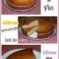 Gâteau au yaourt, saveurs citron & coco