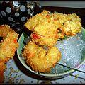 Tempura, beignets de crevettes- gambas, panés