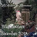 Bilan <b>lecture</b> décembre 2018