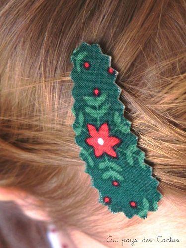 Barettes de Noël Au pays des Cactus