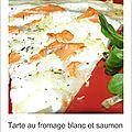 Une tarte fromage blanc-saumon fumé