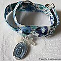 Bracelet Notre-Dame du Rosaire (sur ruban Kaylee sunshine)
