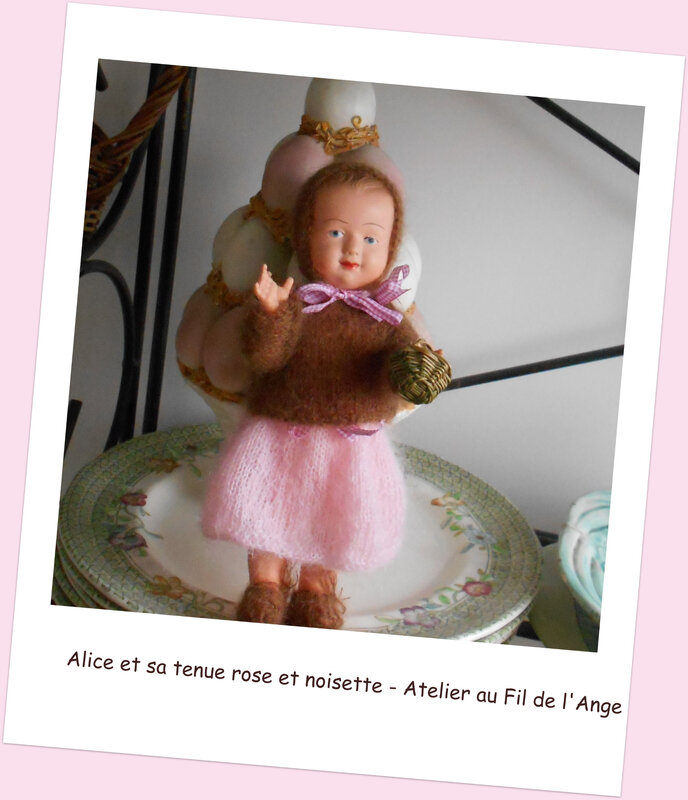Alice et sa tenue rosenoisette