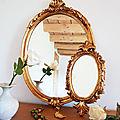 Miroirs rétro doré le grand ou le petit rococo rétro /vintage - <b>boutique</b> de <b>decoration</b> Belley