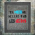 Sur un trottoir de Nantes ta mer ne <b>digère</b> pas les mégots