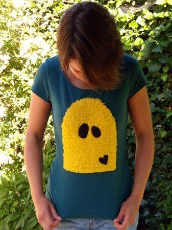 T-shirt Bouh jaune