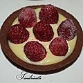 Tartelette framboise chocolatée
