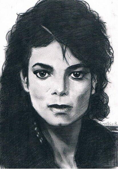 Michael Jackson - fusain