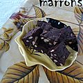 Brownies aux marrons