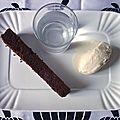 Gâteau fondant au chocolat/café - glace à l'amaretto