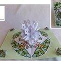 Tea bag folding et pop-up pour une carte d'anniversaire fleurie