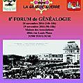 Sur le comité sud-ouest : forum de généalogie les 18 et 19 novembre 2016 à toulouse