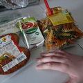 Fusillis à la crème et galettes ô maïs - poivrons (bio) la recette du mercredi
