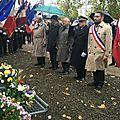 Cérémonie de l'armistice du 11 novembre 1918 à avranches - samedi 11 novembre 2017