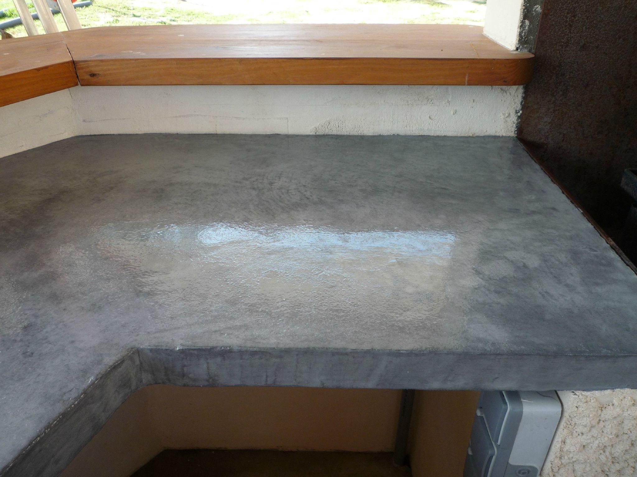 Plan de travail cuisine d 39 t photo de b ton cir - Plan de travail cuisine beton ...