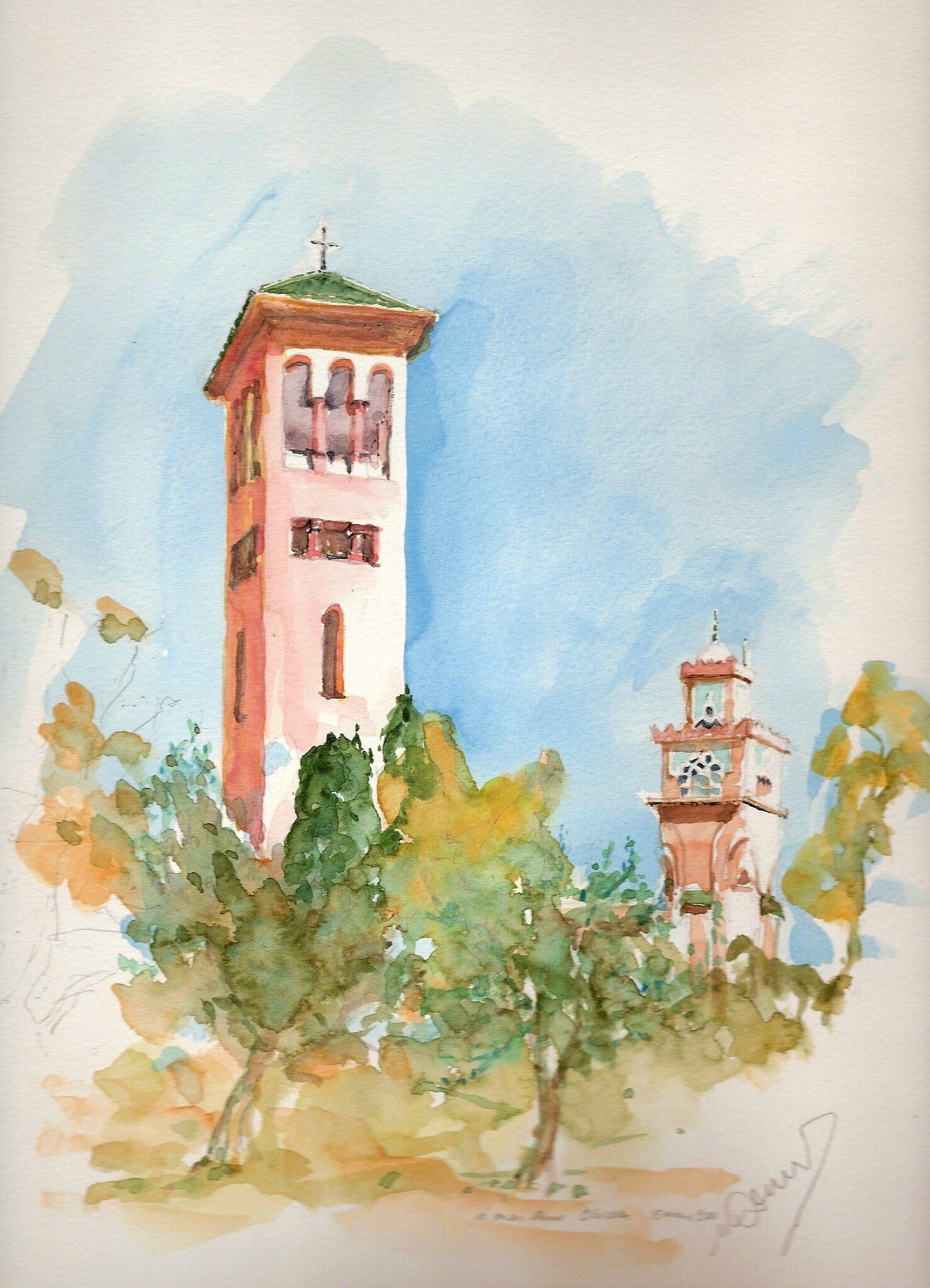 Marrakech Eglise et Minaret