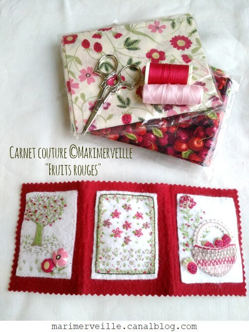 carnet fruits rouges couverture marimerveille