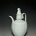 A <b>Qingbai</b> ewer and cover, Northern Song dynasty, 11th-12th century